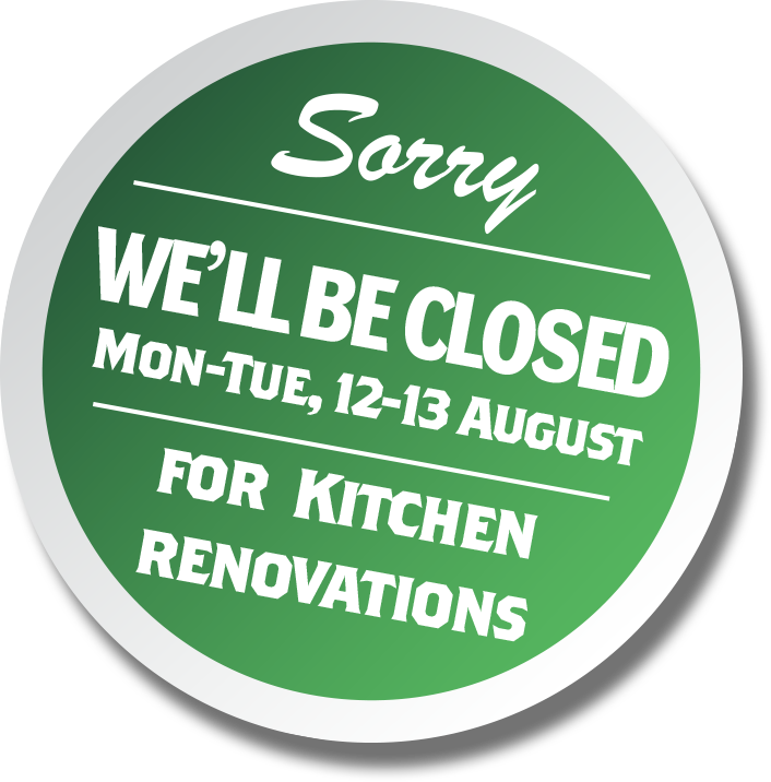Closed for kitchen rennovations