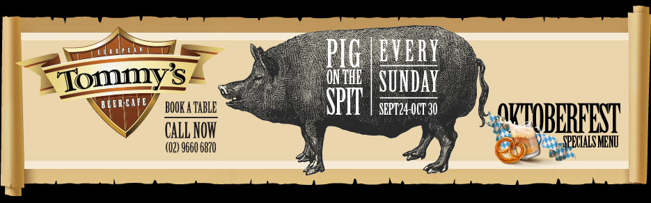 Tommy's Pig On The Spit Every Sunday