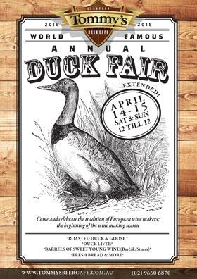 Tommy's Duck Fair 2018